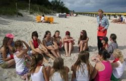 Obóz dla młodzieży nad morzem